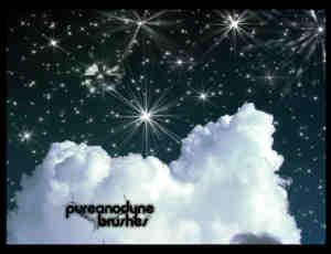 夜晚星空、繁星背景photoshop笔刷素材