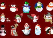 可爱圣诞雪人照片素材-美图秀秀素材包