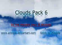 真实的高空云层效果、蓝天白云photoshop笔刷素材