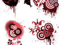 鲜血之花非主流时尚背景装饰photoshop笔刷素材
