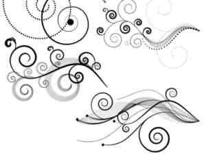 4种线条艺术花纹photoshop笔刷素材#.2