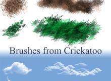 沙子、羽毛、天空云朵photoshop笔刷素材下载