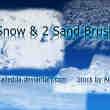 雪地、雪面、岩石表面纹理photoshop笔刷素材