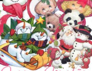 可爱卡通圣诞元素照片美化素材-美图秀秀素材包下载