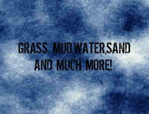 青草、泥土、水、沙子等元素photoshop笔刷素材