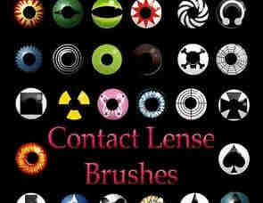 个性化眼球瞳孔、美瞳PS笔刷下载