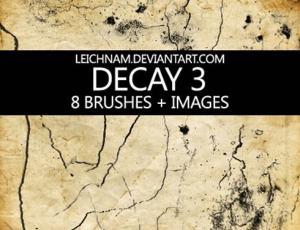 墙壁裂纹裂缝、土地干涸开裂photoshop笔刷素材