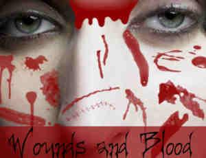 恐怖流血伤口、伤痕效果photoshop笔刷素材