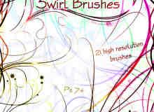 随意线条彩线PS笔刷素材