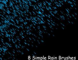 8种暴雨侵袭下雨背景photoshop笔刷素材
