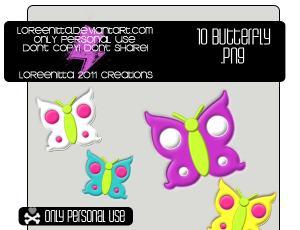 10色搭配花蝴蝶美图秀秀、可牛影像装扮素材