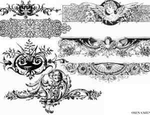 经典欧式艺术花纹图案photoshop笔刷下载 #.5