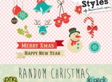 小清新圣诞节照片装饰美图秀秀素材