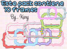 10色卡通边框美图秀秀素材免费下载