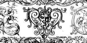 古罗马建筑雕刻花纹图案photoshop笔刷素材