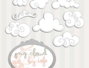 可爱卡通云朵美图秀秀、可牛影像素材