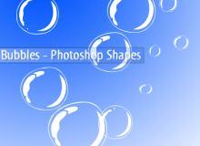 卡通水泡、泡泡、气泡photoshop自定义形状素材