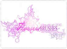 漂亮的高贵牡丹花纹印花photoshop笔刷素材