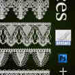 6种蕾丝边花纹艺术装饰PS笔刷素材