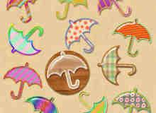 漂亮的小雨伞photoshop自定义风格素材下载