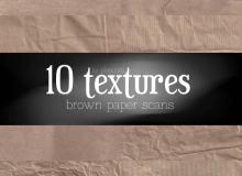 10种纸张、纸质背景纹理材质photoshop笔刷素材下载