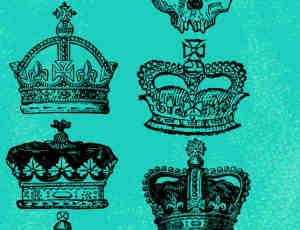 骷髅头王冠、皇冠、教皇皇冠、国王王冠photoshop笔刷素材下载