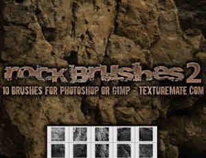 高清悬崖、峭壁、山壁等岩石photoshop笔刷素材