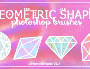 可爱卡通钻石、宝石手绘photoshop笔刷素材