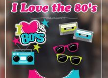卡通录音机、太阳眼镜、帆布鞋、磁带等PNG美图秀秀装饰素材下载