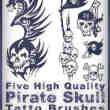 漂亮的海盗骷髅头纹身图案photoshop笔刷素材