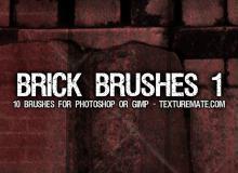 墙砖、砖墙、砖块、围墙photoshop笔刷素材