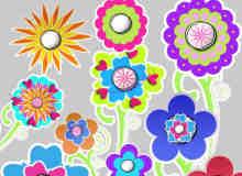 漂亮的卡通花纹图案美图秀秀装饰素材下载