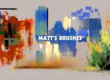 超级油漆痕迹、刷子痕迹photoshop油漆笔刷素材