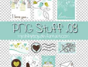 可爱的卡通邮票美图秀秀素材免费下载