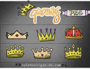 可爱卡通帝国皇冠、卡通王冠图片【美图秀秀】素材下载