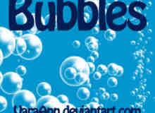 漂亮的半透明水汽泡泡、水泡photoshop笔刷素材