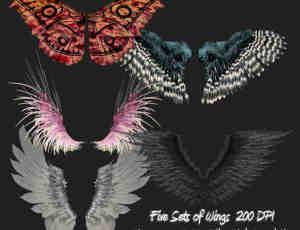 蝴蝶、恶魔、妖精、老鹰翅膀美图秀秀Png素材下载