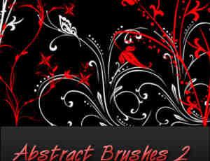 富有艺术气息的植物花纹photoshop笔刷素材#.2