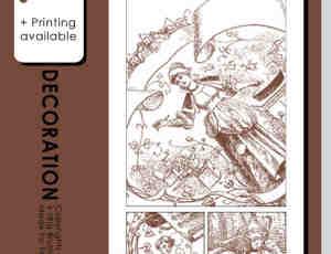 古欧洲人物插画描绘photoshop笔刷素材