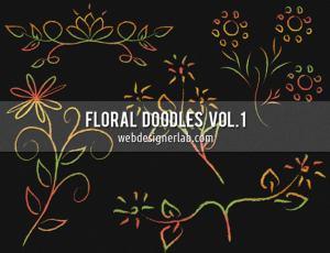 漂亮的手绘植物花纹艺术图案photoshop笔刷素材 #.2