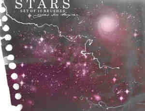 宇宙星系、星云、星星photoshop笔刷素材
