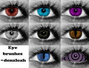 七彩眼瞳、美瞳、眼睛photoshop笔刷素材