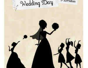 卡通新娘图案photoshop笔刷素材