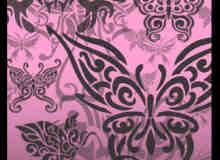 漂亮蝴蝶花纹图案印花photoshop笔刷素材