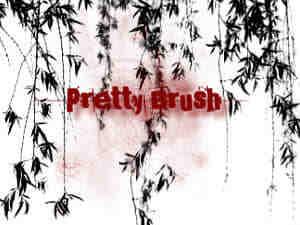 漂亮的柳树、柳叶、垂柳photoshop笔刷素材