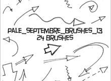 简单铅笔箭头标记符号涂鸦PS笔刷素材下载