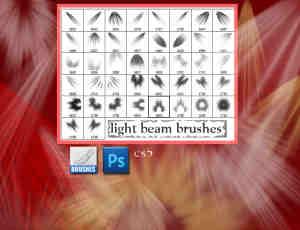 高品质射灯光线、阳光照射photoshop笔刷素材下载