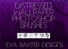 经典的墙纸花纹图案、墙壁印花photoshop笔刷素材
