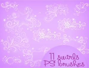 漂亮的非主流五角星装饰photoshop背景素材笔刷