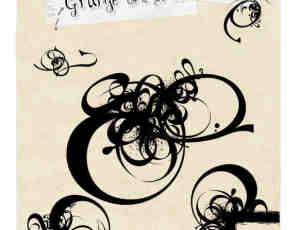 时尚非主流元素涂鸦PS笔刷素材
